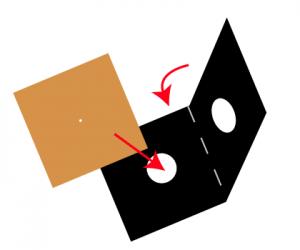Insert pinhole plate into fold