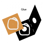 Glue together