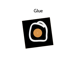 Glue into place