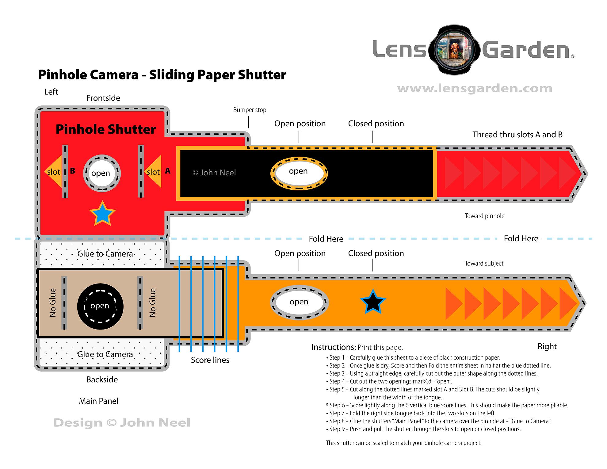 120 Matchbox Pinhole Project Part 5 Shutter Lensgarden