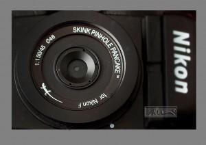 Skink Pinhole Pancake Mounted  to a Nikon